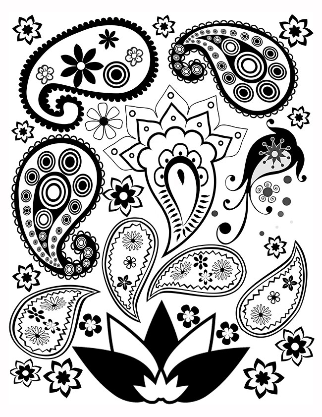 Free Printable Paisley Coloring Pages