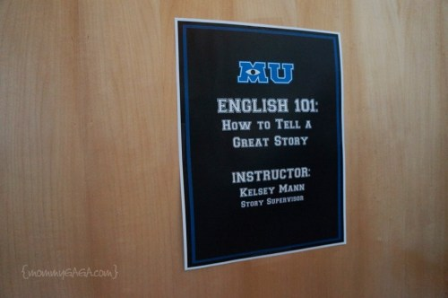 Monsters University, English 101
