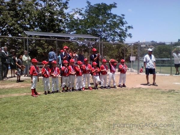 Boys Red Baseball Team