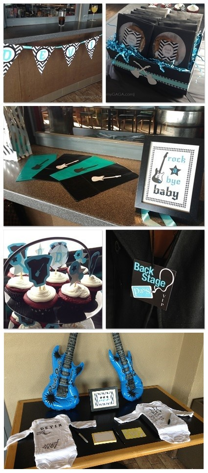 Rock-a-Bye Baby Shower Theme for Boys