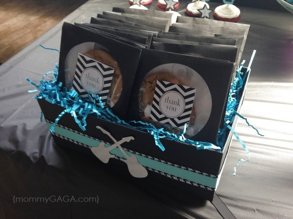 Rock-a-bye baby shower cd case cookies favors