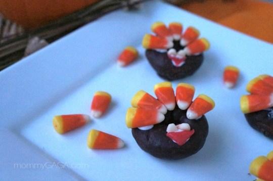 Donut Turkey handmade treats for Thanksgiving