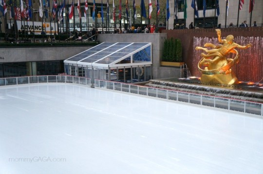 Ice skating rink, Rockefeller Center, New York