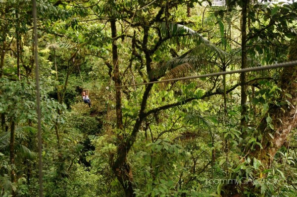 Zip lining at San Luis Canopy Tours, Costa Rica