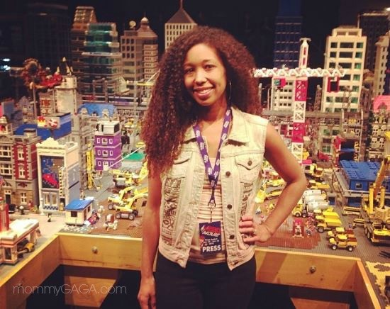 Deanna Underwood at the set of The LEGO Movie, Legoland California