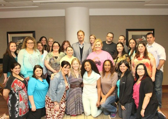 Group of Bloggers with Director James Bobin, Muppets Most Wanted Event