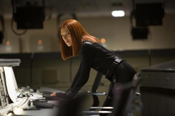 Black Widow in Captain America Winter Soldier