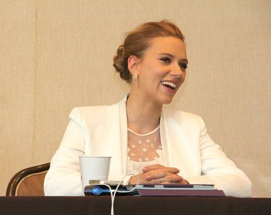 Scarlett Johansson, Captain America Press Event, March 12, 2014, Los Angeles, CA