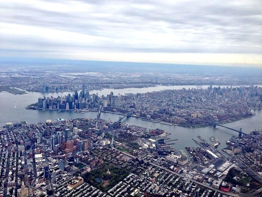 Arial View of New York City