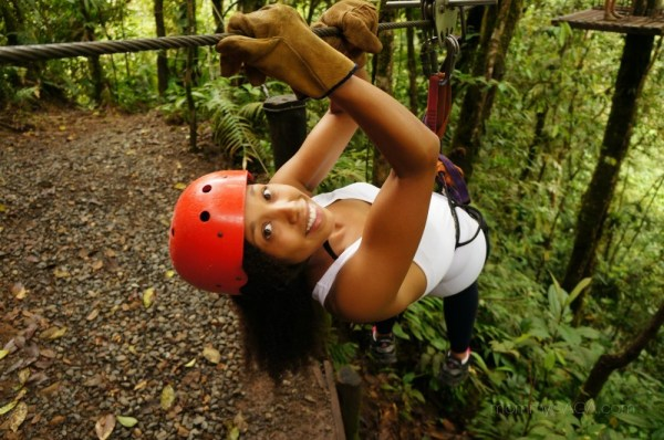 Deanna Underwood, mommyGAGA, ziplining with San Luis Canopy Tours, Costa Rica
