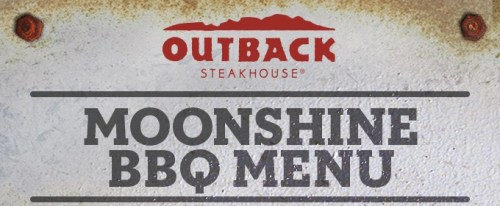 Outback Moonshine BBQ menu