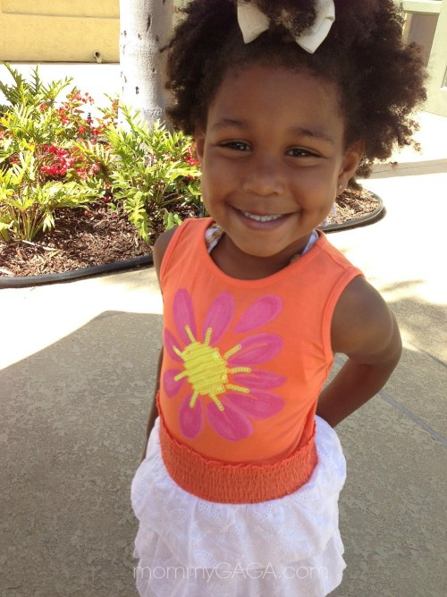 Little girl wearing Design History dress