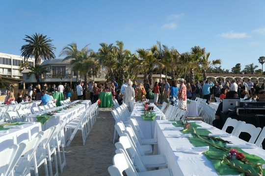 Guests mingling at the Bahia Carnaval