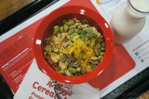 Kellogg's pistachio Lemon gourmet cereal