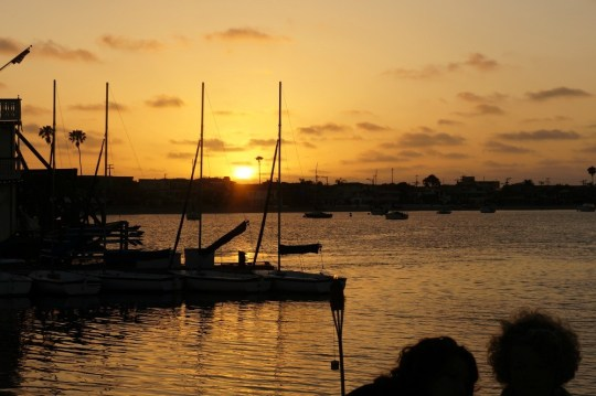 sunset over the bay, Bahia Hotel, San Diego
