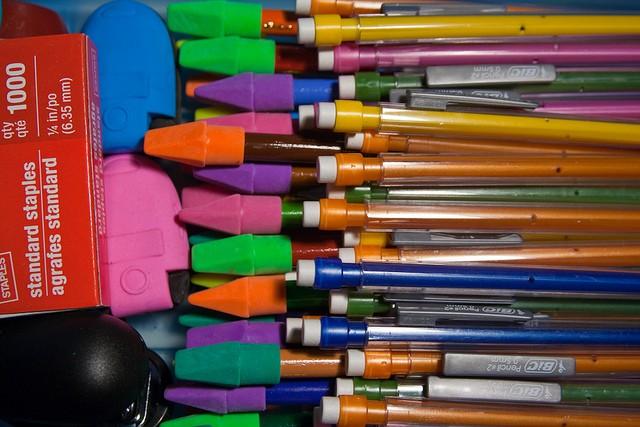 school supplies, flickr, stevendepolo