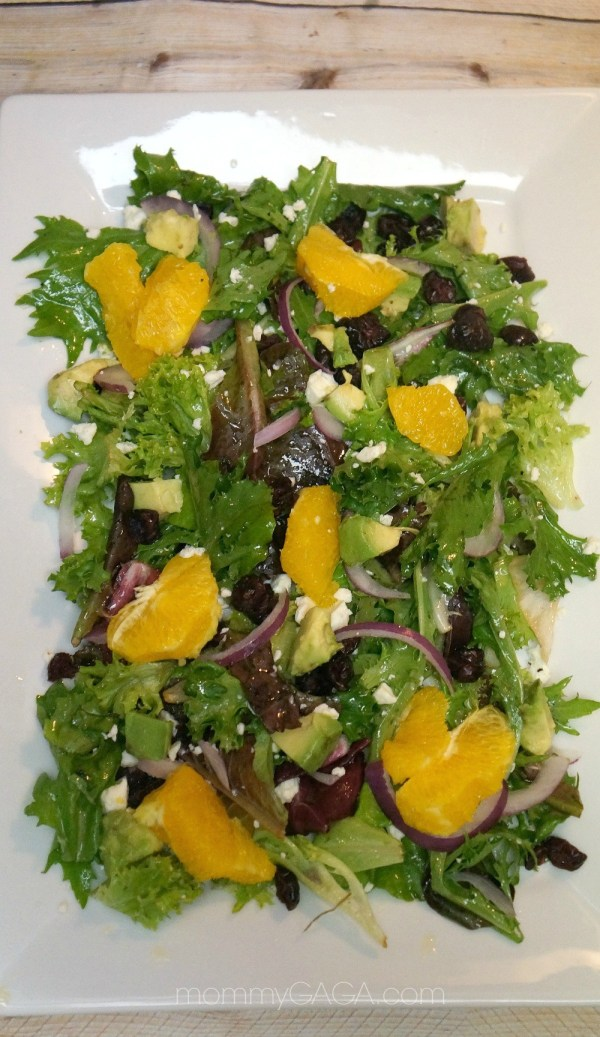 Citrus Cranberry Salad with Orange Citrunette Dressing