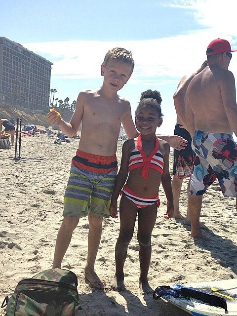 San Diego in September, beach buddies