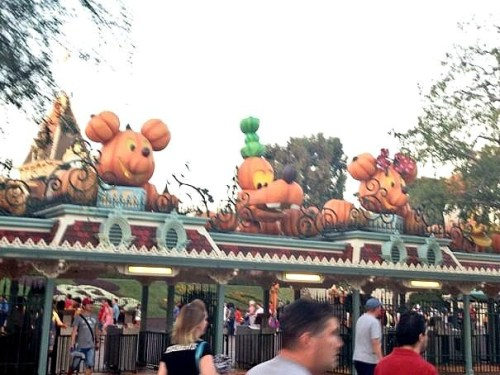 Halloween Time at The Disneyland Resort - Park Entrance
