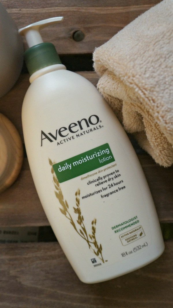 Aveeno Daily Moisturizing Lotion keeps my skin healthy in the winter