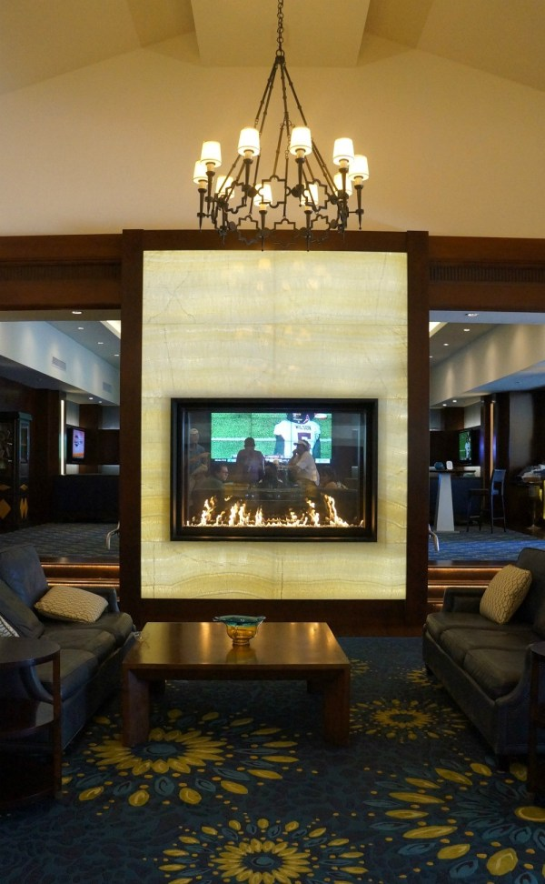 Lobby fire place, Omni La Costa Resort