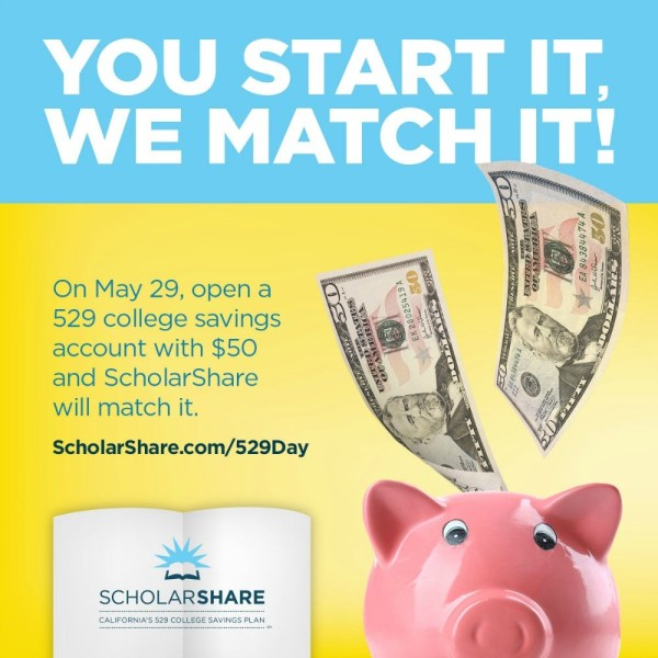 ScholarShare National 529 Day College Savings Plan Match