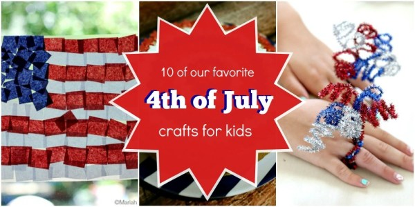 10 Patriotic Fourth 4th of July Crafts for kids