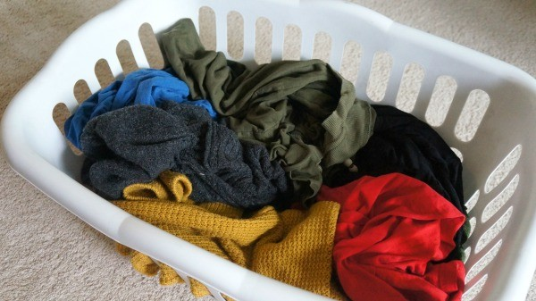 dirty laundry clothes in basket
