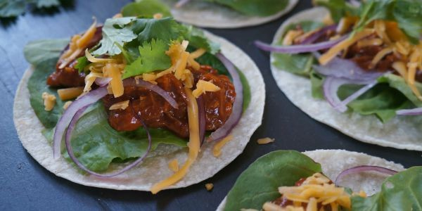 Easy 15-Minute BBQ Shredded Chicken Tacos