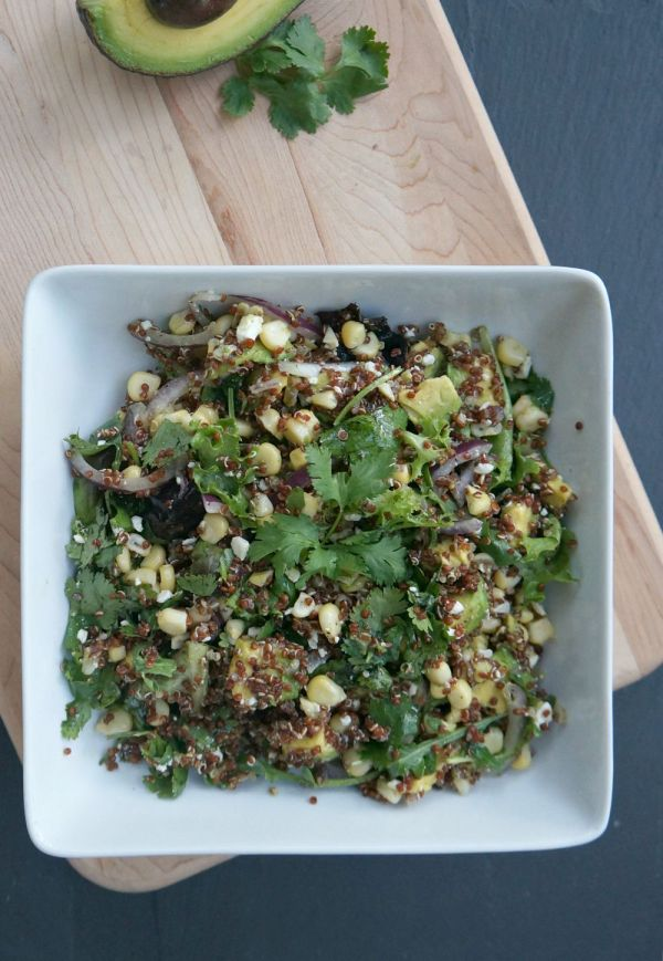 Fresh corn, avocado and quinoa summer salad recipe