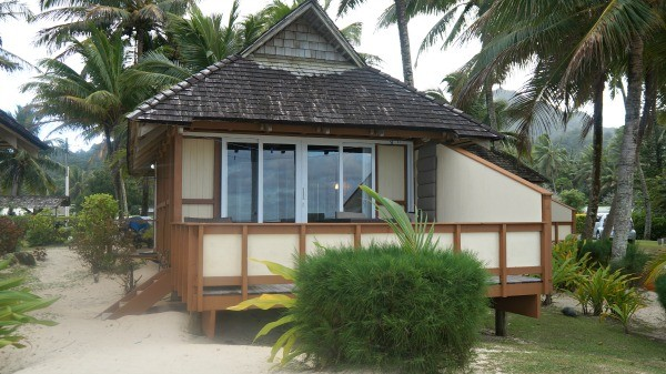 Palm Grove Resort, Rarotonga, Cook Islands, beach front bungalow number 4