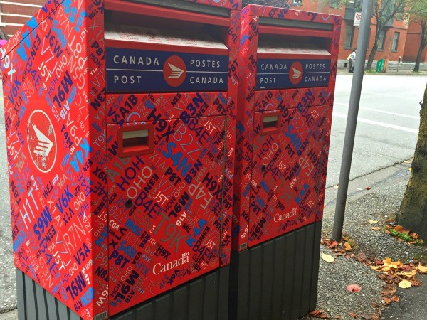 Interesting things I saw in Vancouver BC, Canada, Colorful Canada Post mailboxes