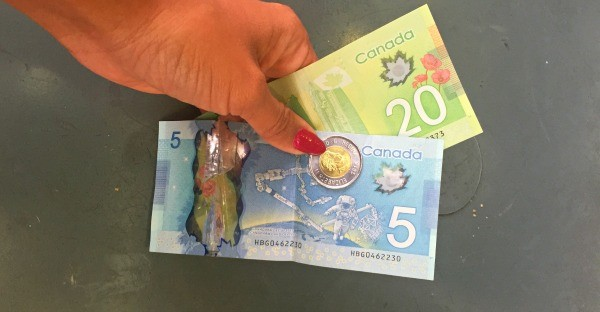 Interesting things I saw in Vancouver BC, Canada, Colorful money currency