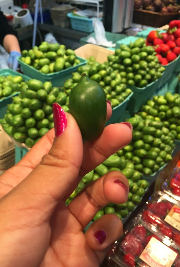 Interesting things I saw in Vancouver BC, Canada, kiwi berry at Granville Island market