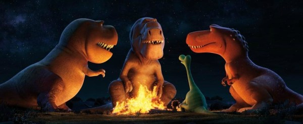 The Good Dinosaur Still, T-Rex campfire