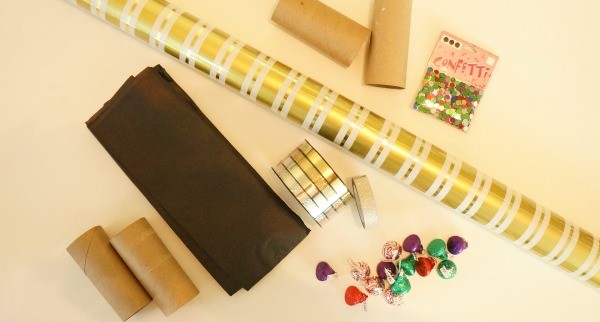 How to make toilet paper roll New Years eve party poppers, materials needed