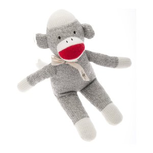 Beba Bean Plush Sock Monkey Rattle