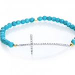 Scoop NYC beaded cross bracelet