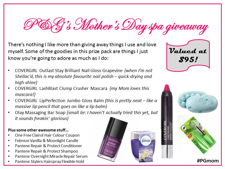 P&G's Mother's Day spa giveaway