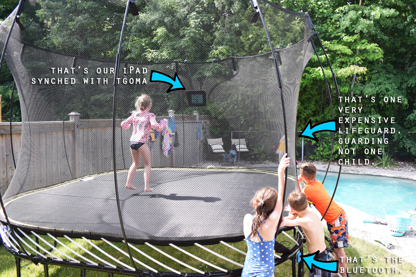 Springfree Trampoline with tgoma