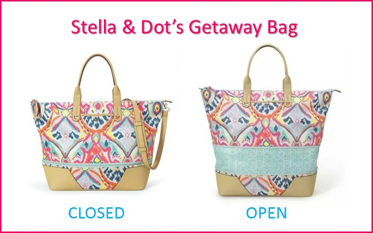 How big is the Stella & Dot Getaway Bag?