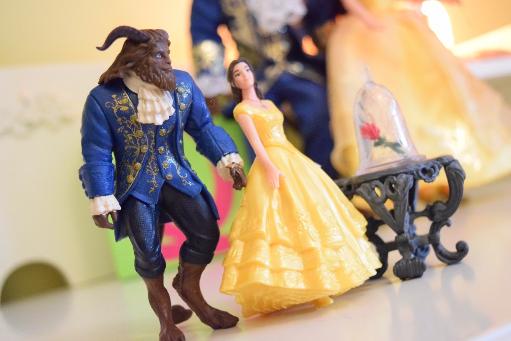 Beauty and the Beast collectible items.