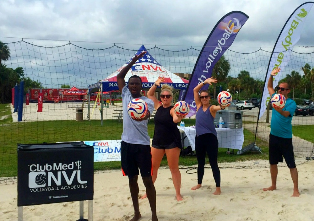 Beach volleyball academy at Club Med Sandpiper Bay