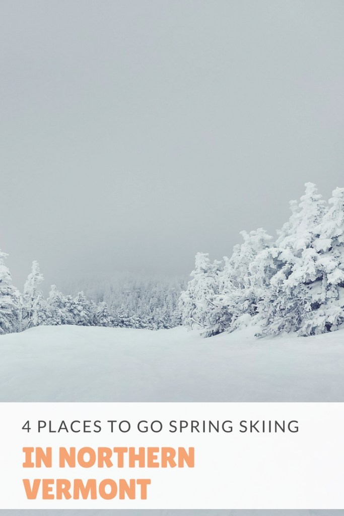 April is the perfect time for spring skiing and Northern Vermont is home to plenty of resorts that are still packed with snow. Here are 4 places to go spring skiing in Vermont.