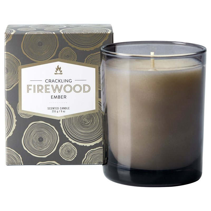 crackling firewood candle