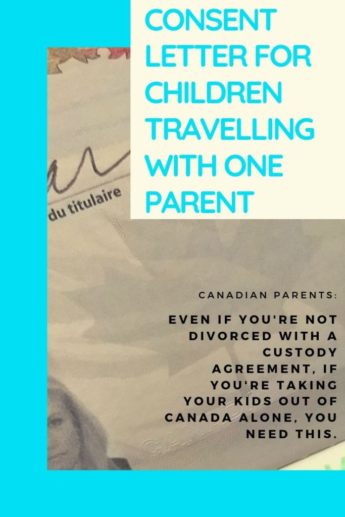 Free consent letter for children travelling abroad with one parent.
