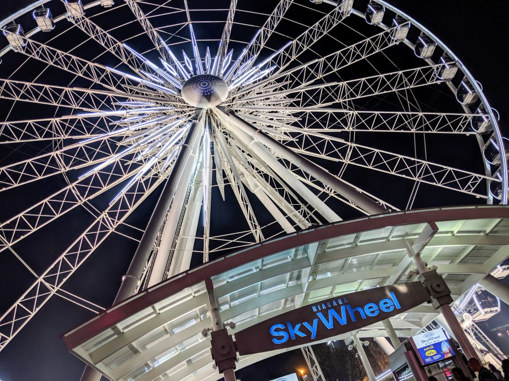 niagara skywheel at night
