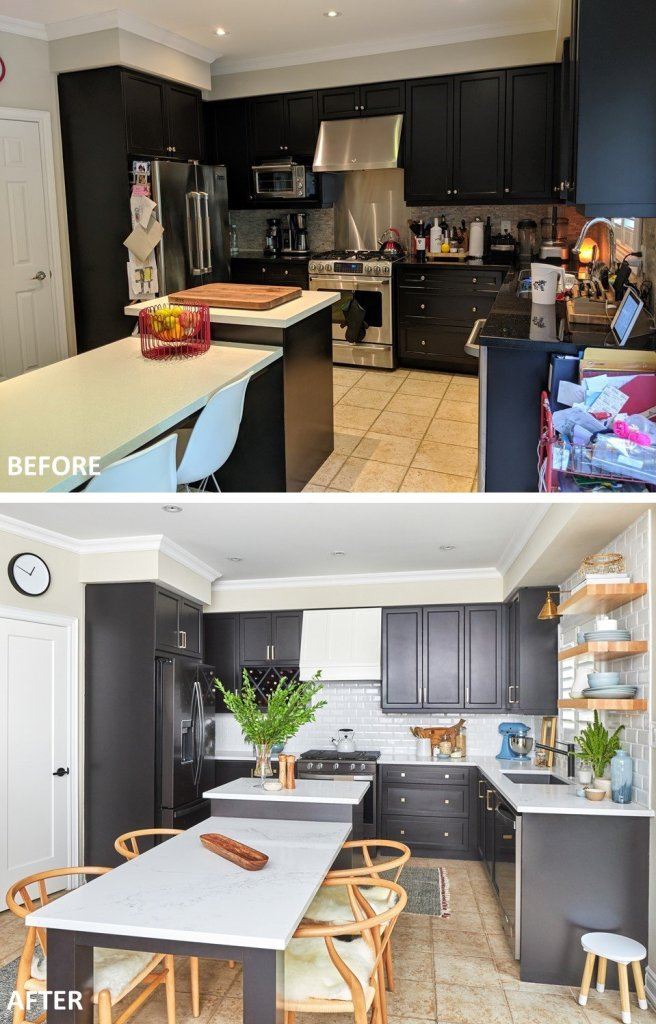 kitchen refresh before and after