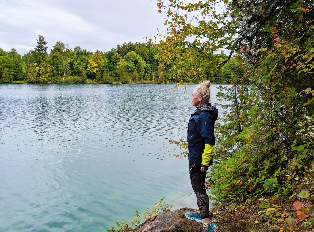 pink lake outaouais