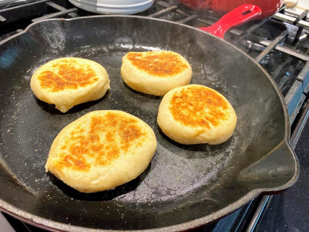 sourdough discard English muffins